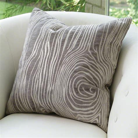 global pillows global views faux bois pillow grey
