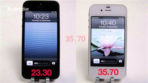 iphone 5 speed test vs iphone 4s app speed and
