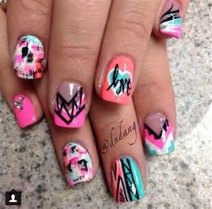 cute colorful acrylic nails nails pinterest