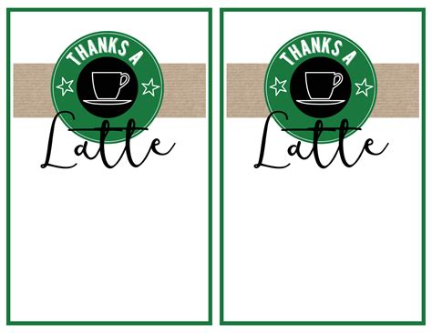 Printable Starbucks Gift Card - starbucks teacher thank you printable paper trail design