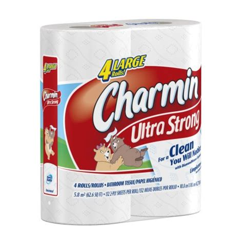 What Company Makes Charmin Toilet Paper - charmin ultra strong toilet paper 4 large rolls pack of