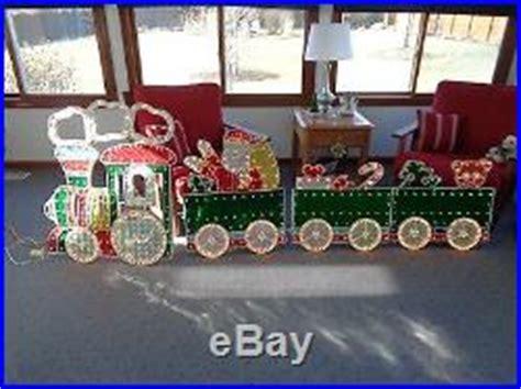 christmas outdoor halogrphic train decoration 4 decor world