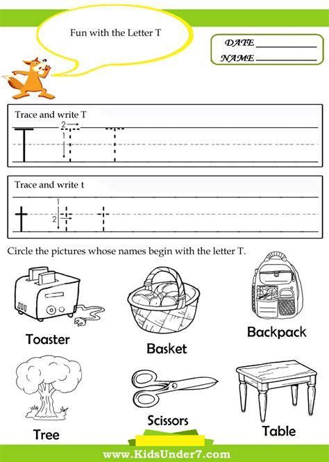 Letter T Worksheet Kindergarten by Free Letter T Worksheets For Kindergarten Writing