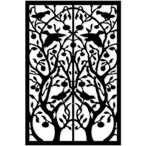 acurio latticeworks 1 4 in x 32 in x 4 ft black tree of