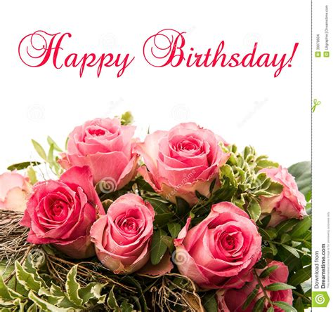 Happy Birthday Cards With Roses Roses Bouquet Card Happy Birthday Stock Photos 525 Roses