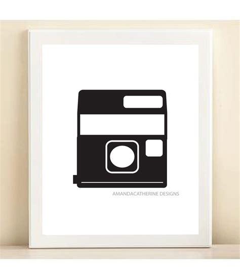 black polaroid black polaroid print poster
