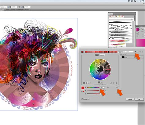 adobe illustrator cs6 recolor artwork portrait illustration on wacom gallery