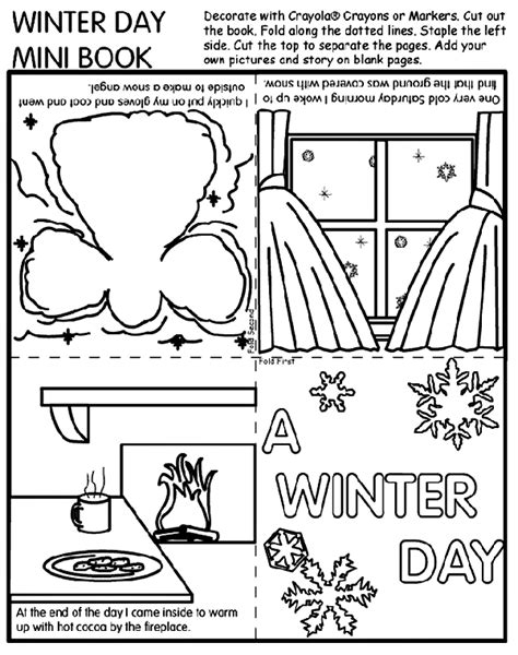 book of numbers a 31 days of coloring journal books winter day mini book crayola ca