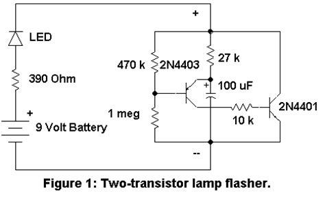 capacitor flasher circuit flasher circuits
