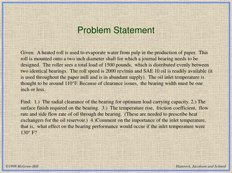 code section 751 statement ppt tutorial 7 design of a journal bearing powerpoint