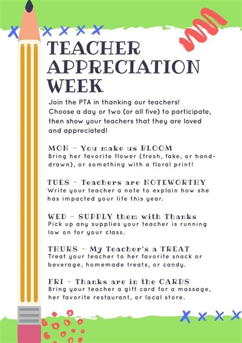 Appreciation Week Letter To Parents