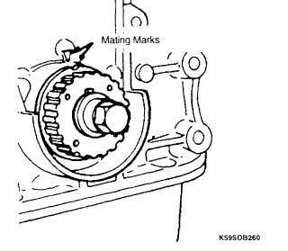 2001 Kia Timing Belt Replacement 2001 Kia Sportage 2 0 Timing Marks