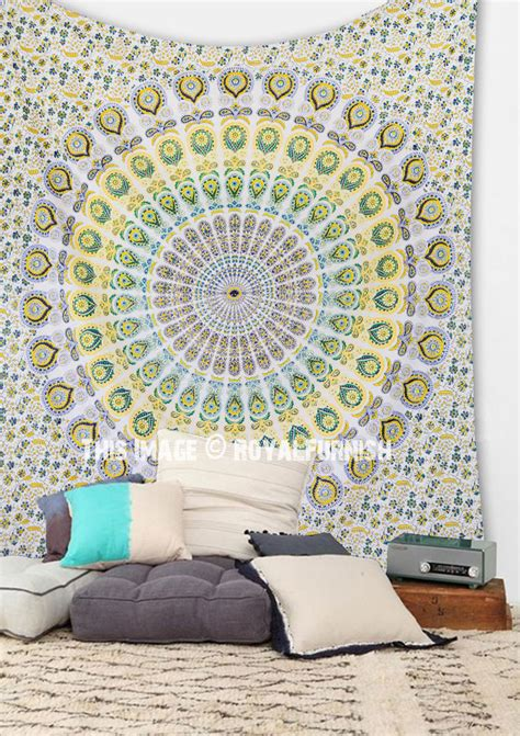 Psychedelic Dorm Bedroom Mandala Wall Tapestry Cotton Bedroom Wall Tapestry