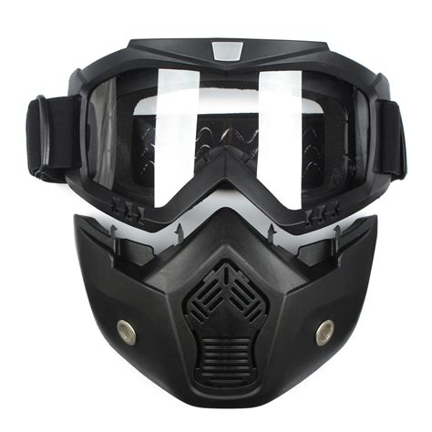 motocross helmet with face shield detachable modular helmet face mask shield goggles yellow