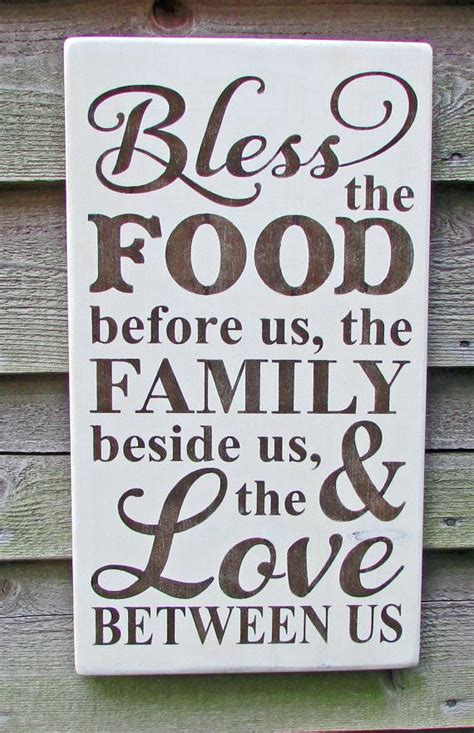 Poster Bless The Food Before Us The Family Beside Us The kitchen sign primitive kitchen sign rustic kitchen sign