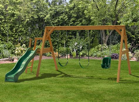 free swing sets free standing a frame swing set play mor wooden swing sets