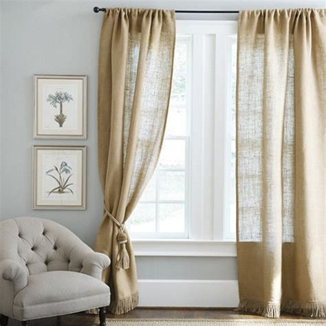 ballard design curtains fringed burlap panel farmhouse curtains by ballard designs