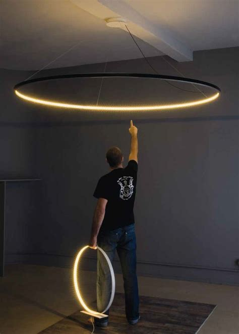 Home Decor Photography huge circle pendant led direct indirect light pendant