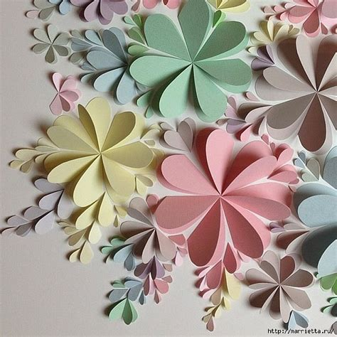 How To Make Paper Wall Flowers - delightful diy paper flower wall free guide and