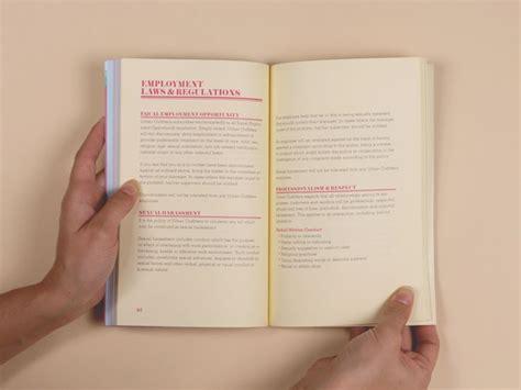 employee handbook layout design 55 best employee handbook design images on pinterest