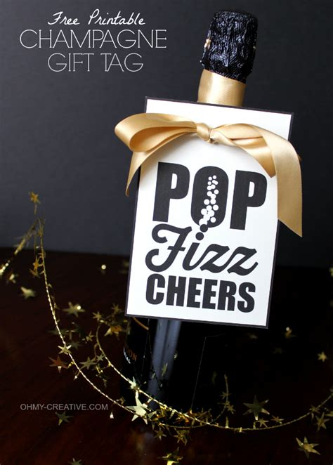 new year free gift free printable chagne gift tag pop fizz cheers