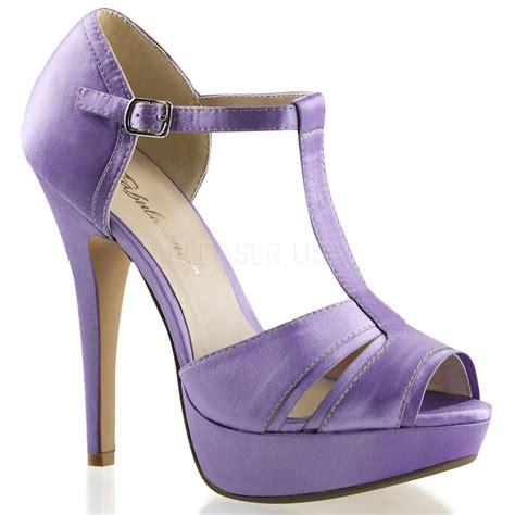 lavender light purple bridesmaid bridal prom peep toe
