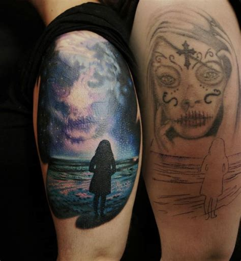 tattoo cover up girl girl neart the sea cover up best tattoo ideas gallery