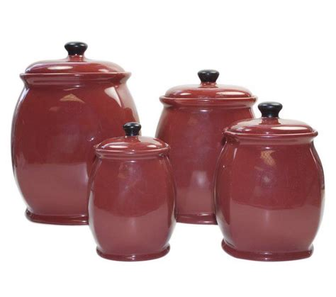 Kitchen Canisters Set Of 4 | new nice corelle hearthstone set of 4 red kitchen