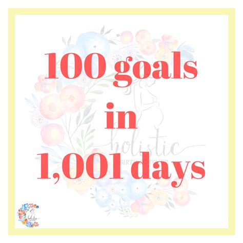 100 Word Term Goals Mba by 101 Goals In 1 001 Days Holistic Birth Partner