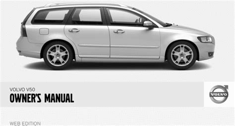 08 volvo v50 2008 owners manual download manuals technical