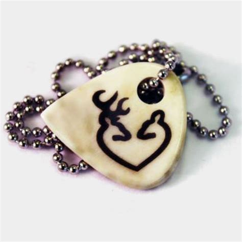 buck doe necklace on cow bone six shooter gifts