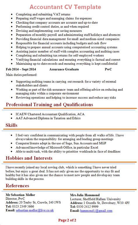 Resume Template Year 10 by Exle Cv Year 10 Professional Resumes Sle