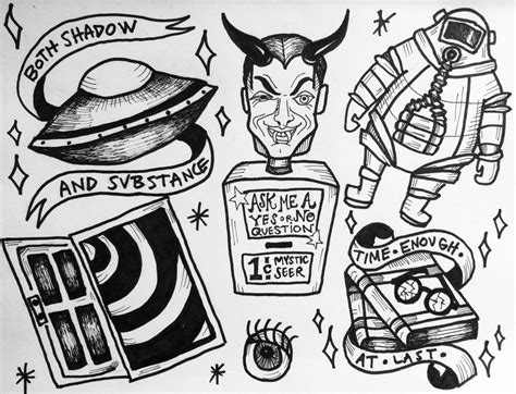 twilight zone tattoo the of mendoza twilight zone flash sheet