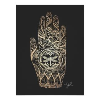 henna tattoo posters henna posters zazzle canada