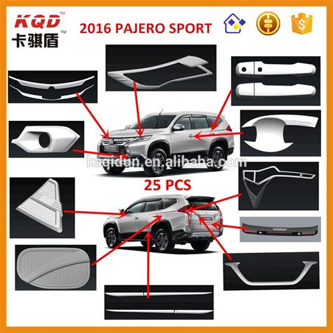 Tank Cover Allnew Pajero Sporty 2016 montero sport pajero sport chromed rear light cover mitsubishi car accessories accesorios
