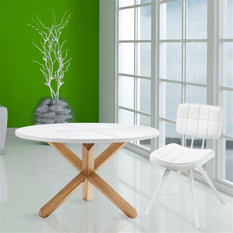 tavolo legno bianco tavolo da pranzo tondo in legno lola piano bianco