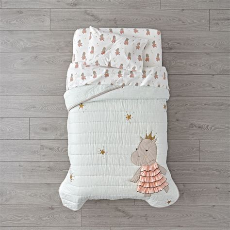 land of nod toddler bedding royal hippo toddler bedding the land of nod