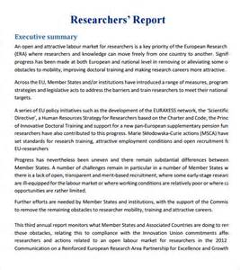 Report Of Research Paper by Research Papers Progress Report