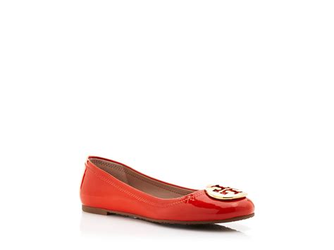 burch shoes flats burch ballet flats reva patent in orange lyst