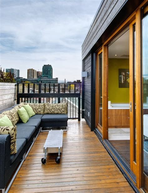 Rooftop Patio Toronto by Houzz Third Floor Roof Deck Transitional Deck