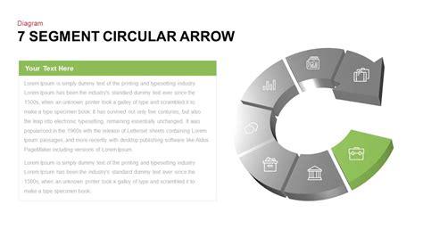 7 segment circular arrow powerpoint template slidebazaar