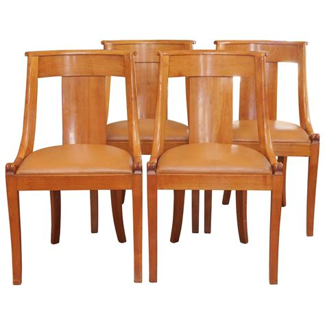Koerner Furniture by Set Of Eight Fruitwood Dining Chairs At 1stdibs
