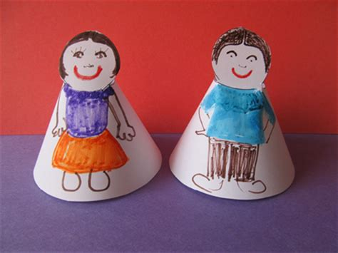 How To Make Paper Plate Doll - how to make cone shaped paper dolls children s crafts