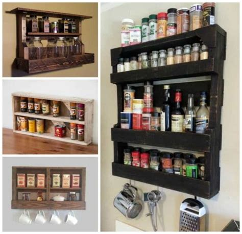 diy spice rack from wood pallet pallet ideas diy top pins the best collection