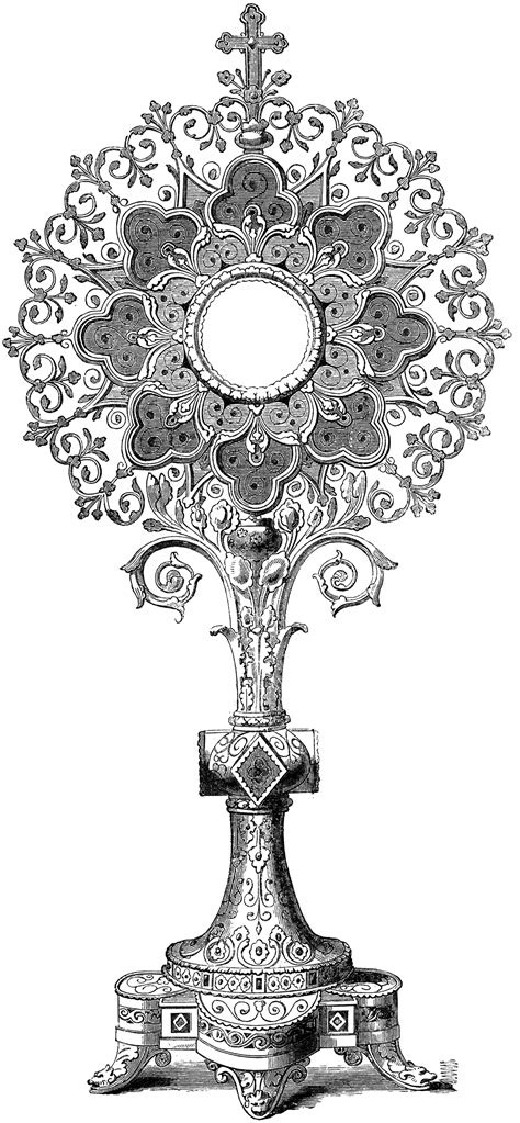 Monstrance Clipart Etc Monstrance Coloring Page