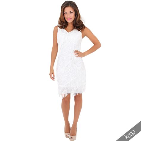 Mini Dress Mano 22 vestido de mujer flecos lentejuelas serie 20 a 241 os swing