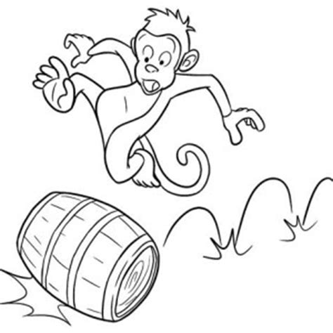 sea monkey coloring pages how to draw monkey sea