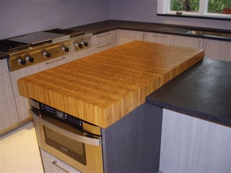 bamboo butcher block island end grain bamboo butcher block custom