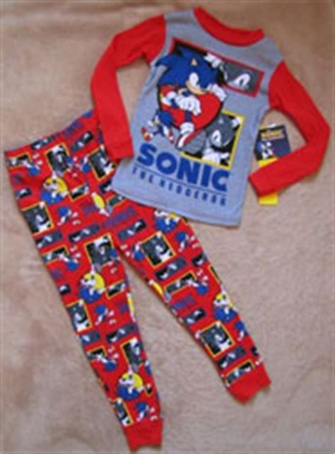 White Gray Sonic Top sonic the hedgehog sleepwear pjs page 2