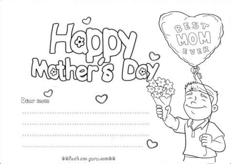 happy mothers day card template printable happy mothers day cards from your boy